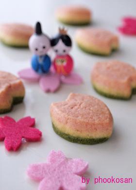 3色のひなまつりクッキー