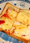 魚焼きグリルで作る白菜ピザトースト