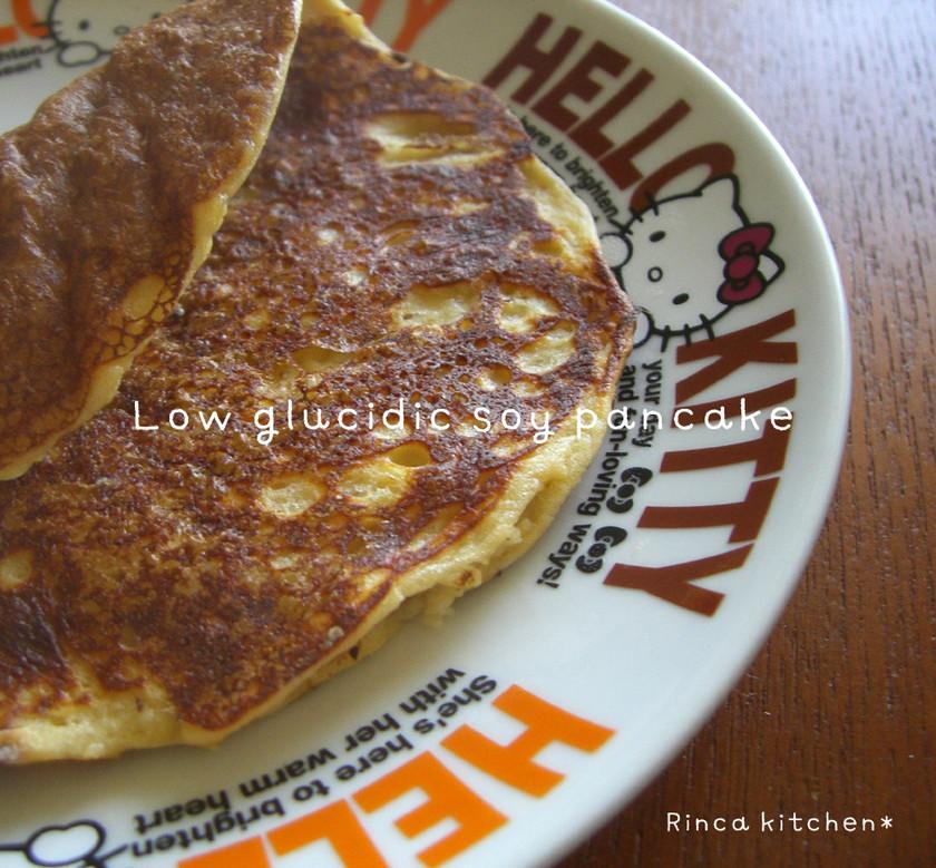 低糖スイーツ♪大豆粉で作るパンケーキ