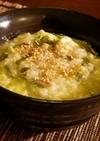 青梗菜のスタミナ雑炊
