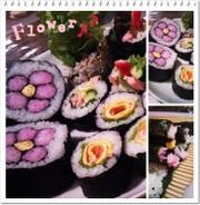 簡単♪梅の花巻き寿司の写真