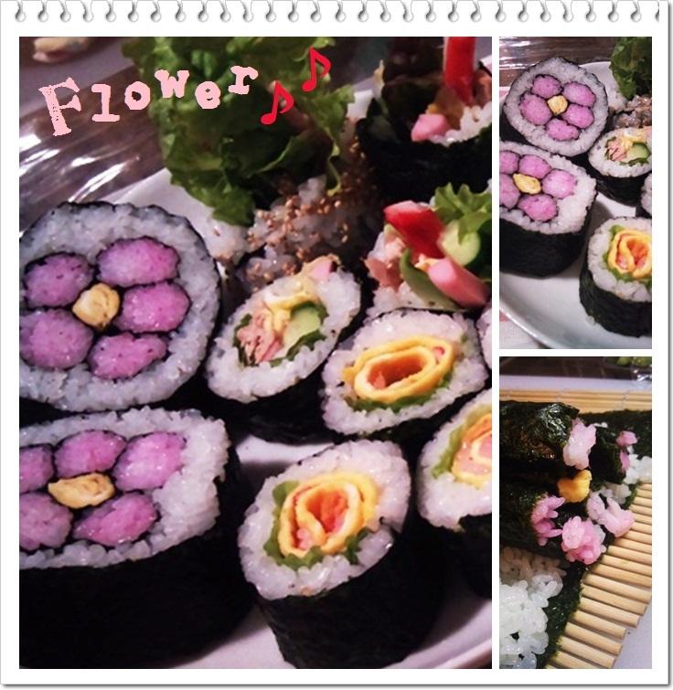 簡単♪梅の花巻き寿司
