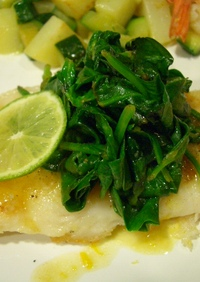 白身魚のレモンソースがけ