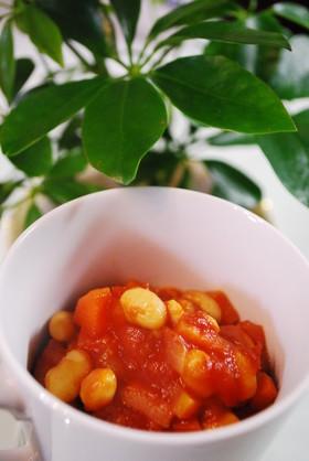 子供も夢中♡大豆のトマト煮