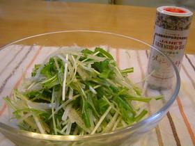 クレイジーソルトで大根と水菜のサラダ