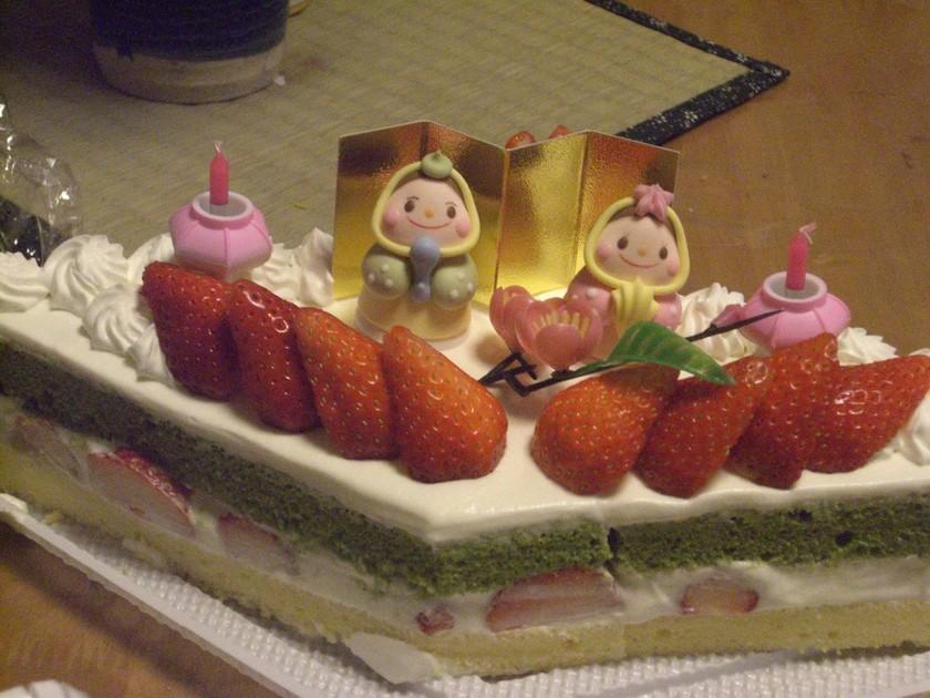 菱形三段 ひな祭り ケーキ