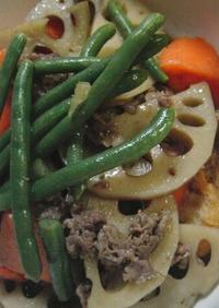 ♡牛肉と しゃきしゃきレンコンの煮物♡