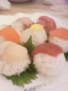 子供と一緒に手まり寿司★