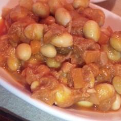 大豆の水煮でツナビーンズ