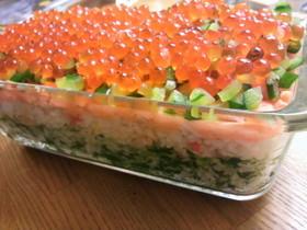 ひな祭り☆パウンド型寿司ケーキ