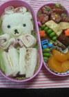 ランチパック風サンドイッチでクマさん