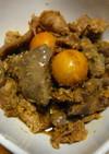 鶏肝と玉ひもの甘辛煮