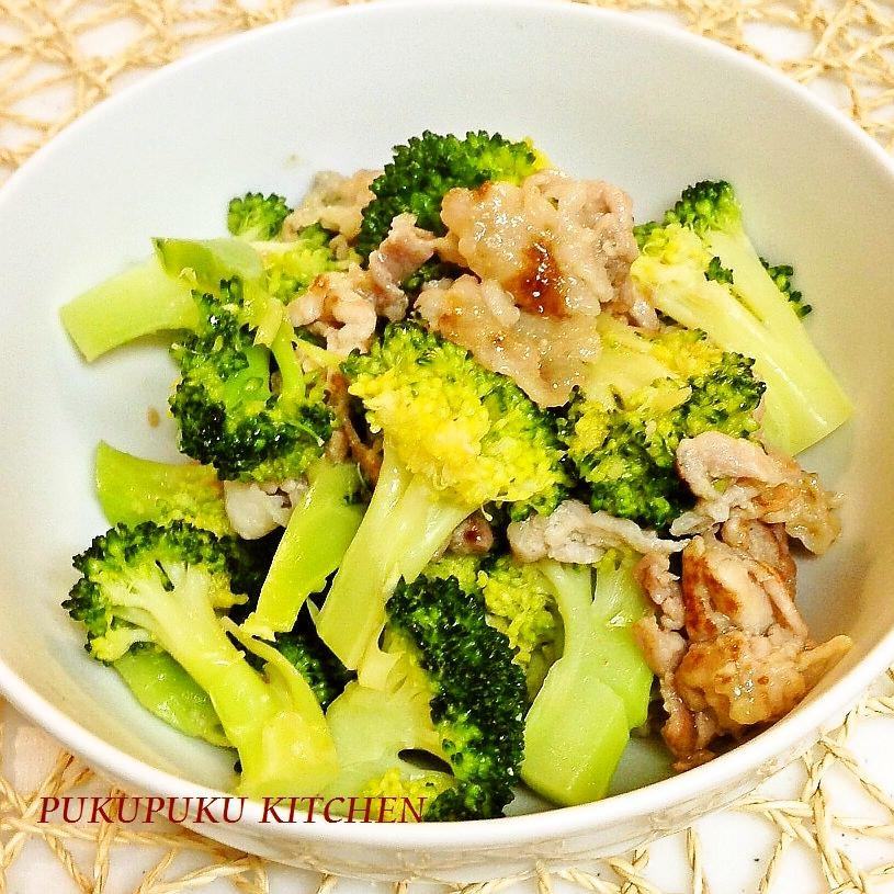 豚肉とブロッコリーのシンプルな炒めもの