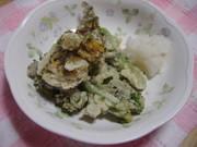 菜の花のサクサク天ぷらの写真