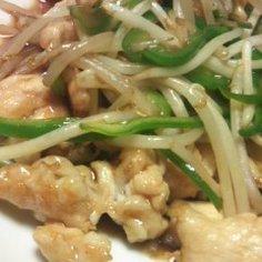鶏ムネ肉とモヤシのオイスターソース炒め