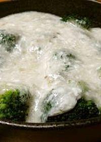 余った卵白で☆ブロッコリーの淡雪あんかけ