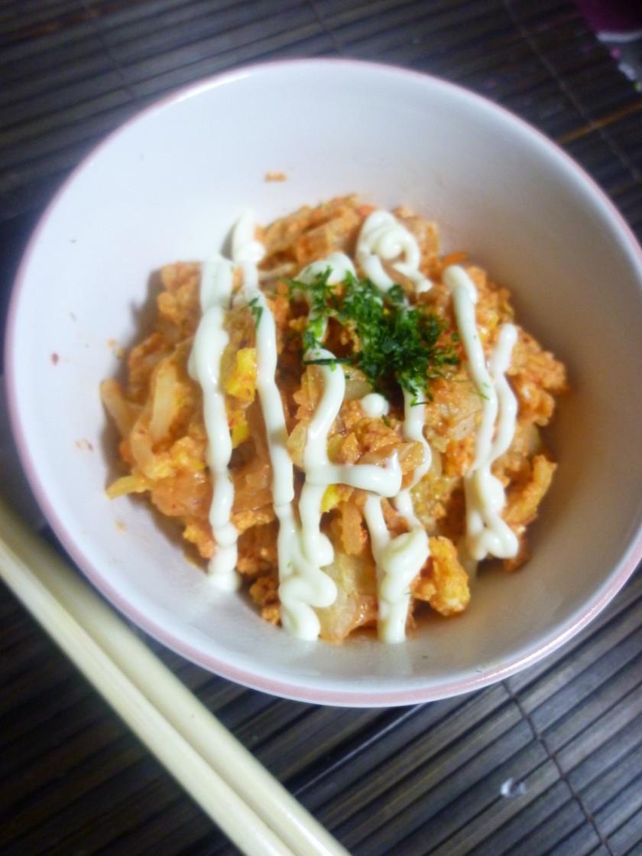 レンジでチン♪egg+キムチ納豆~❤