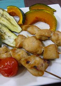 鶏肉の簡単串焼き&野菜の旨味凝縮焼き