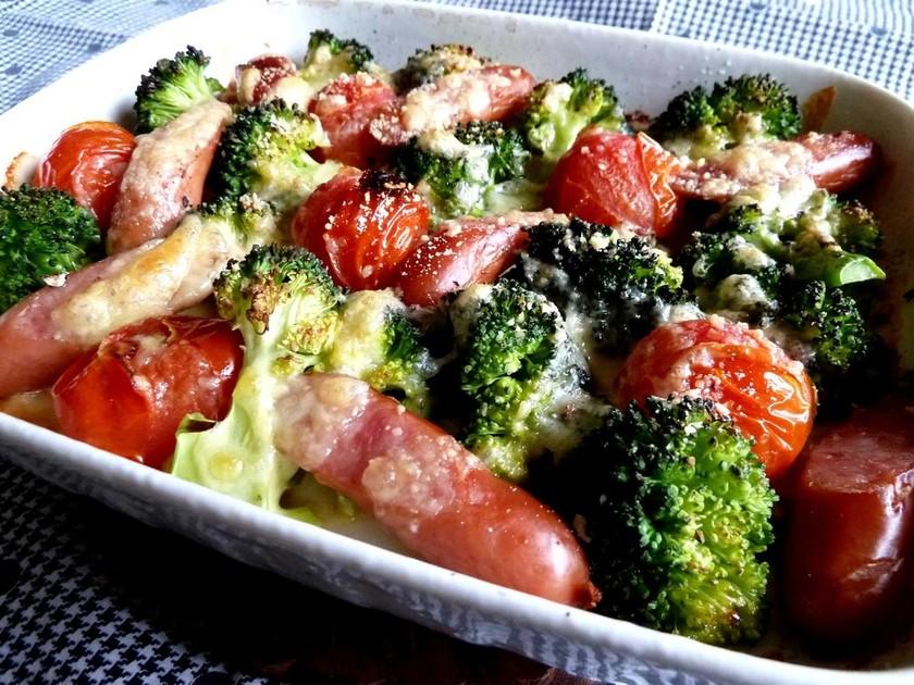焼きブロッコリー&トマトのチーズグリル