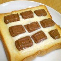 チョコチーズトースト☆シナモンがけ♪