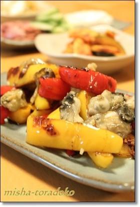 干し野菜♪ 牡蠣とパプリカの旨々ソテー