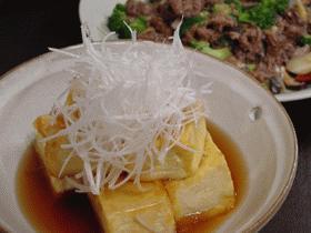 揚げだし風・卵衣豆腐