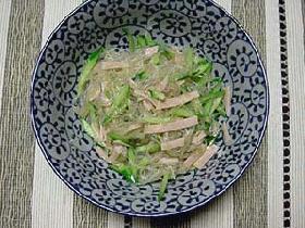 中国黒酢の春雨サラダ