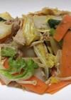 白菜と豚肉の簡単野菜炒め