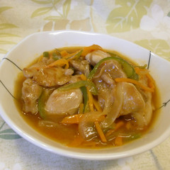 鶏肉と野菜のケチャップ煮