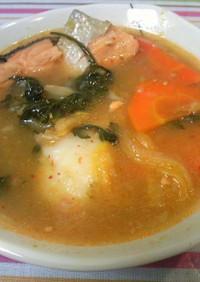 計画停電の常備食に!キムチ鮭スープ