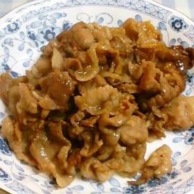 豚肉のヨシダソース炒め