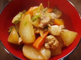 三浦大根と鶏モモの煮もの
