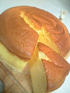 プロセスチーズで簡単!スフレチーズケーキ