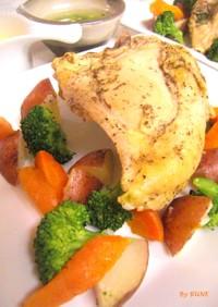 簡単☆鶏と野菜の蒸し料理