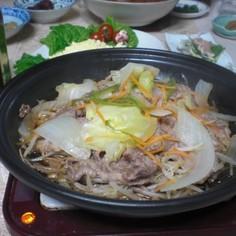 タジン鍋でジンギスカン