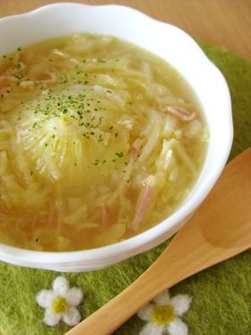 新たまねぎとキャベツのスープ