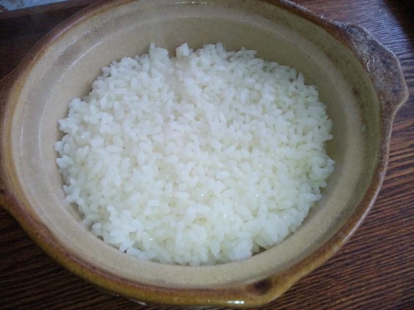 節水☆お茶と無洗米で炊くごはん