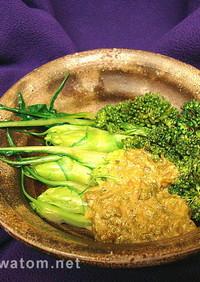 プンタレッラの簡単和食:ふき味噌添え