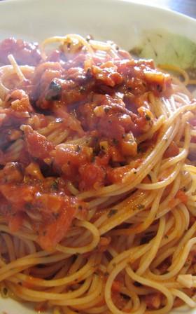タコのラグーのスパゲティ