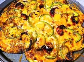 かりかりチーズの!ぺろりんこ茄子ピザ