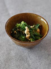 菜の花の炒り豆腐の写真