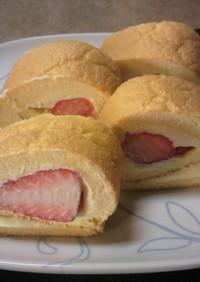 1切れ85kcal!苺のロールケーキ☆