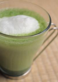 簡単スチーム&フォームミルクで抹茶ラテ