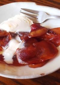 リンゴのキャラメル煮