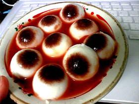 目玉ゼリー☆ハロウィンのお菓子