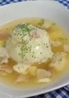 新玉ねぎの丸ごとコンソメスープ