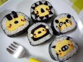 巻き寿司☆どうぶつさん☆