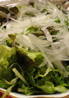 レタスと水菜のシャキシャキサラダ♪
