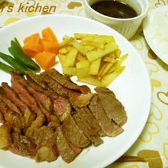 安いステーキ肉を柔らかくする方法☆