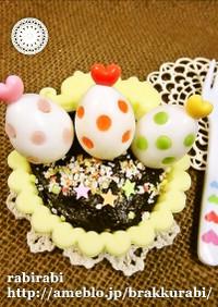 ✿キャラ弁に可愛いカラフルうずらの卵✿